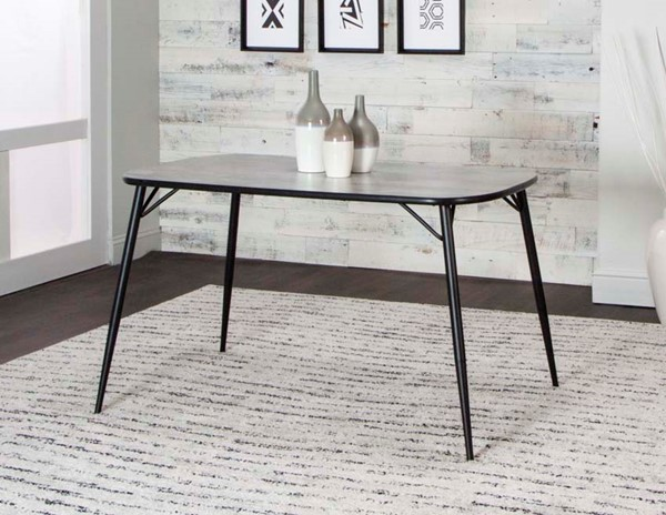 Cramco Parx Concrete Laminate Metal Bow End 48 Inch Dining Table CRM-D8539-56