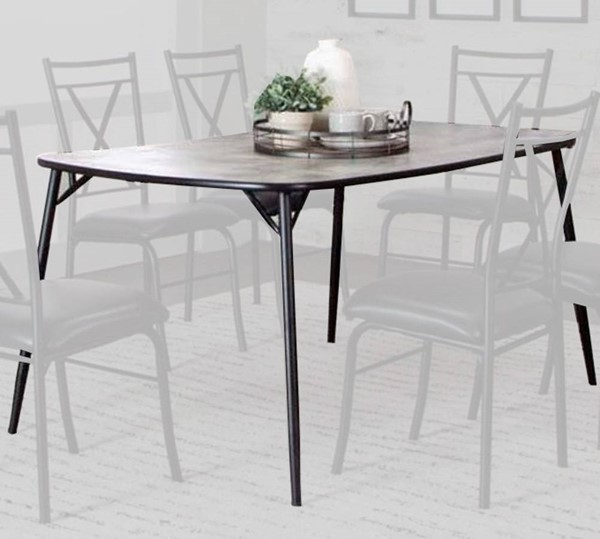 Cramco Parx Concrete Laminate Metal Bow End 60 Inch Dining Table CRM-D8539-60