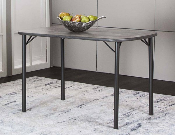 Cramco Timber Vintage Laminate Metal Bow End Dining Table CRM-D8719-56