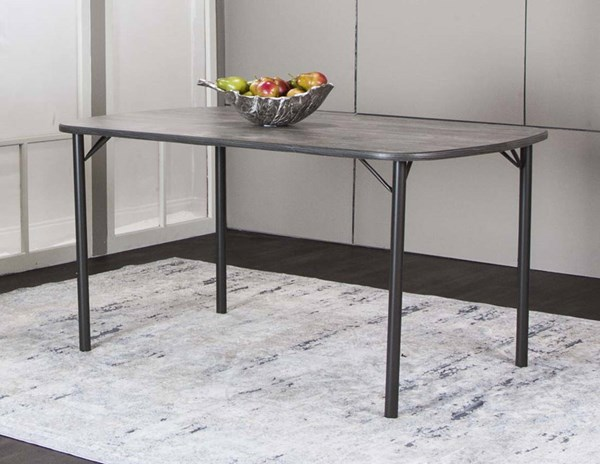 Cramco Timber Vintage Laminate Metal 60 Inch Bow End Dining Table CRM-D8719-60