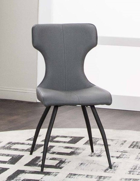 4 Cramco Eclipse Charcoal Polyurethane Side Chairs CRM-G5124-01