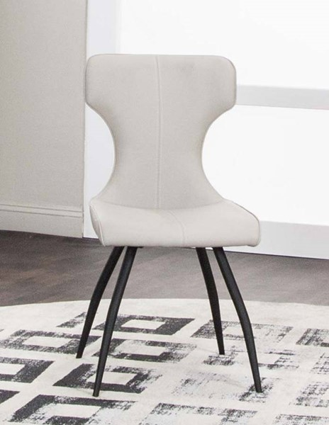4 Cramco Eclipse Taupe Polyurethane Side Chairs CRM-G5124-03
