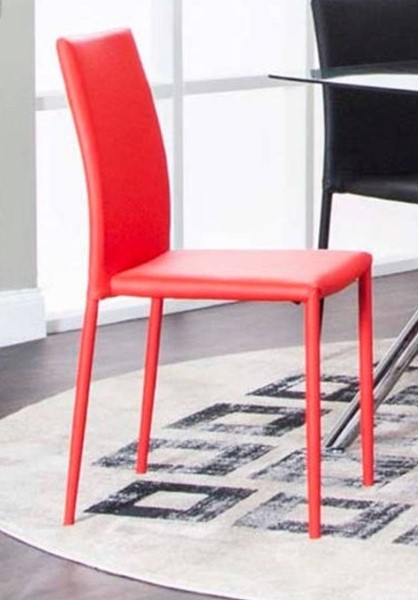 4 Cramco Capri Red Polyurethane Side Chairs CRM-K2060-12