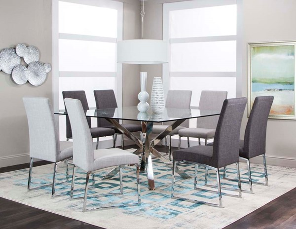 Cramco Classic Gray 9pc Dining Room Set CRM-ND069-935