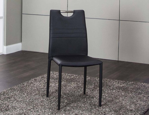 4 Cramco Fiesta Black Polyurethane Stack Chairs CRM-ND162-01