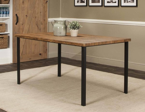 Cramco Adler Oak Wood Black Metal Rectangular Dining Table CRM-P2002-68