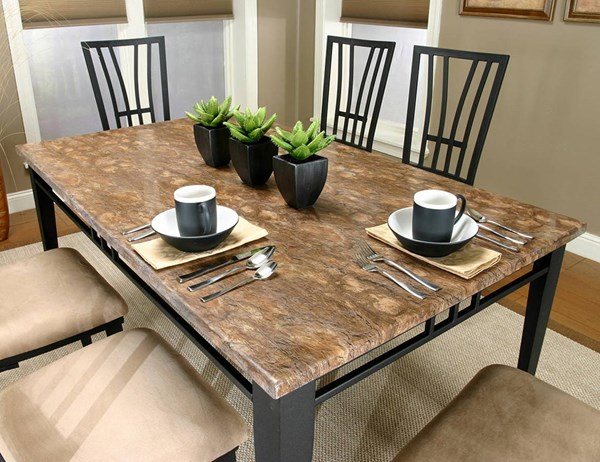 Cramco Lingo Rectangular Faux Marble Top Dining Table CRM-W2337-57