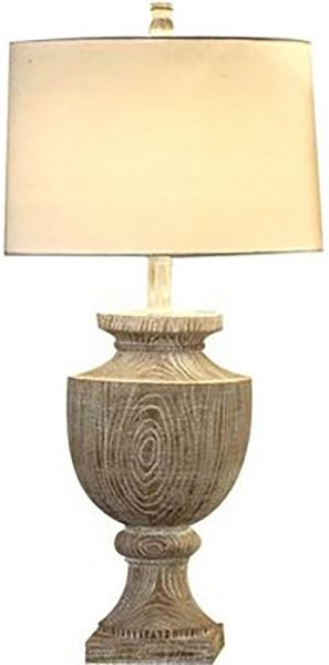 Crestview Collection Avalon Off White Table Lamp CRST-CVAUP523