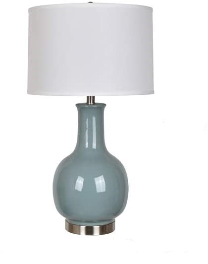 Crestview Collection Grey Ceramic Metal Table Lamp CRST-AP2206GRSNG