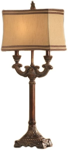 Crestview Collection Lisle Taupe Beige Table Lamp CRST-CVAQP541