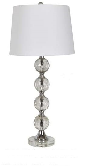Crestview Collection Clear Crystal Table Lamp CRST-ABS1504BNCRSNG
