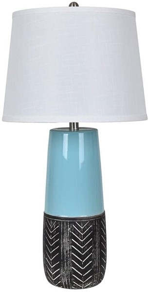 Crestview Collection Ceramic Shaded Table Lamp CRST-AP2165SNG