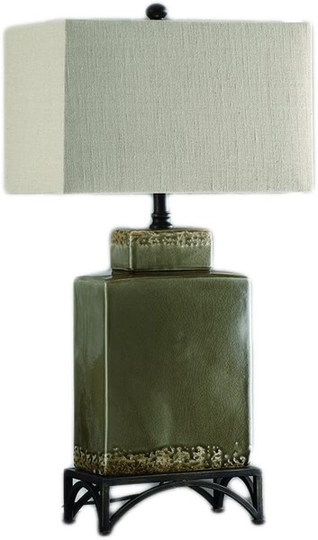 Crestview Collection Tuscan Pottery Green Table Lamp CRST-CVAP1483