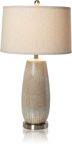 Crestview Collection Melrose Silver Table Lamp CRST-CVAP1250
