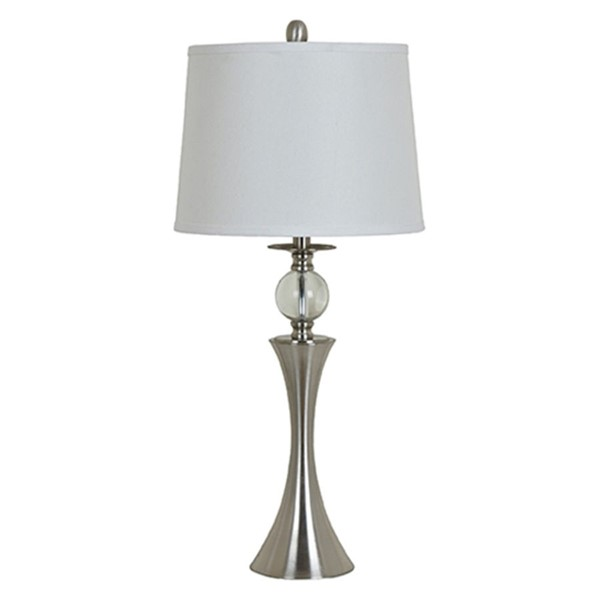 Crestview Collection Cream Drum Shade Table Lamp CRST-ABS1019BN