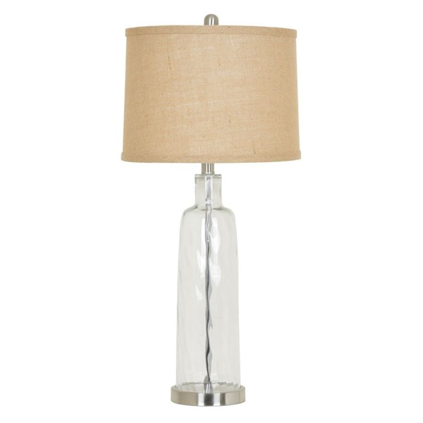 2 Crestview Collection Drum Shade Table Lamps CRST-ABS1054BNTR