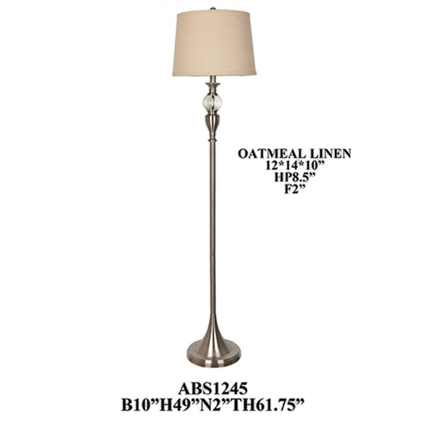 2 Crestview Collection Drum Shade Floor Lamps CRST-ABS1245BN