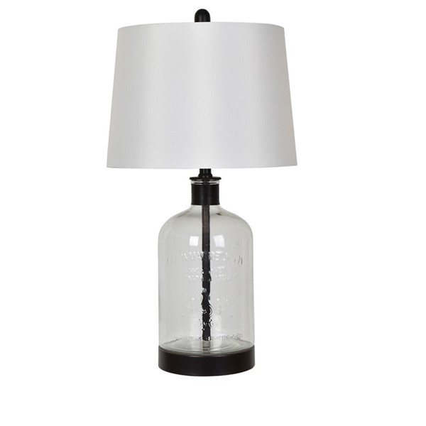 Crestview Collection Glass Metal Table Lamp CRST-ABS1338SNG