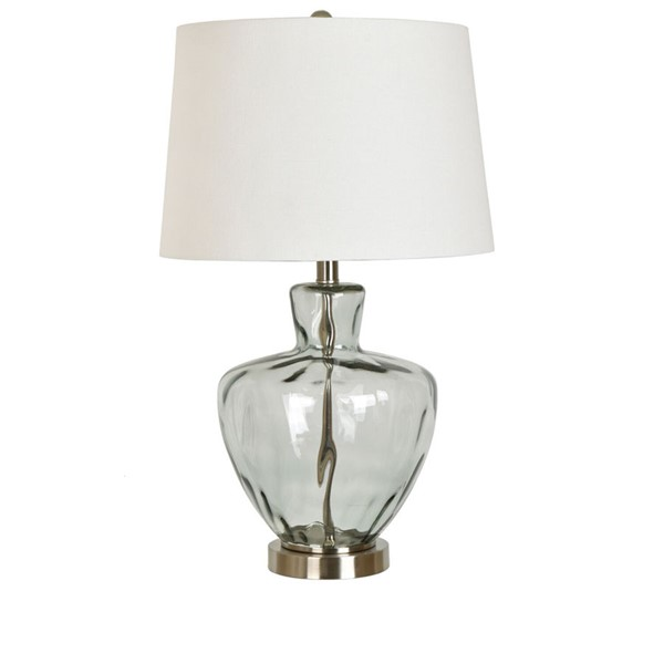 Crestview Collection Blue Glass Table Lamp CRST-ABS1354BUSNG