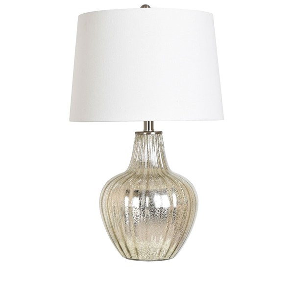 Crestview Collection Glass Shaded Table Lamp CRST-ABS1369SNG