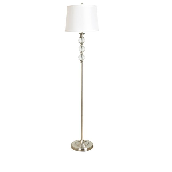 Crestview Collection Crystal Shaded Floor Lamp CRST-ABS1376SNG