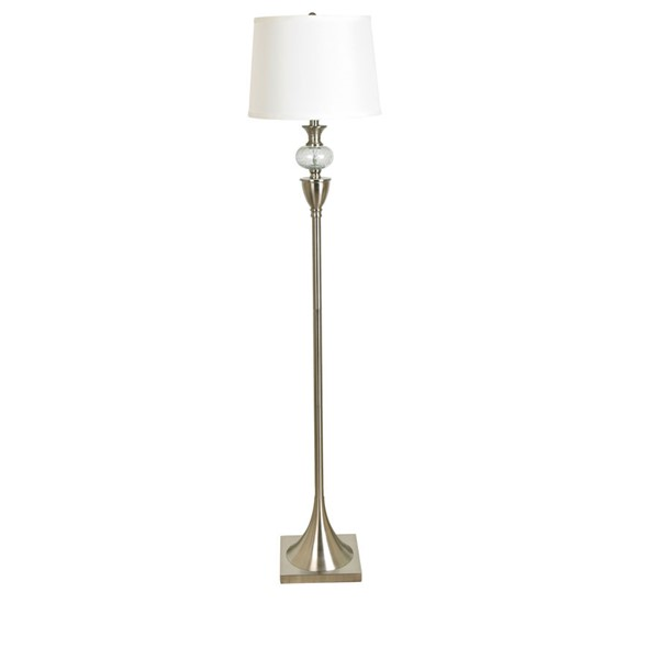Crestview Collection Metal Glass Floor Lamp CRST-ABS1377SNG