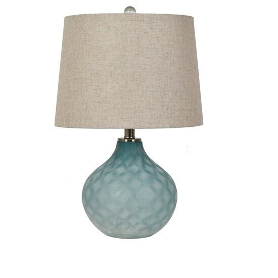 Crestview Collection Blue Glass Shaded Table Lamp CRST-ABS1429BUSNG