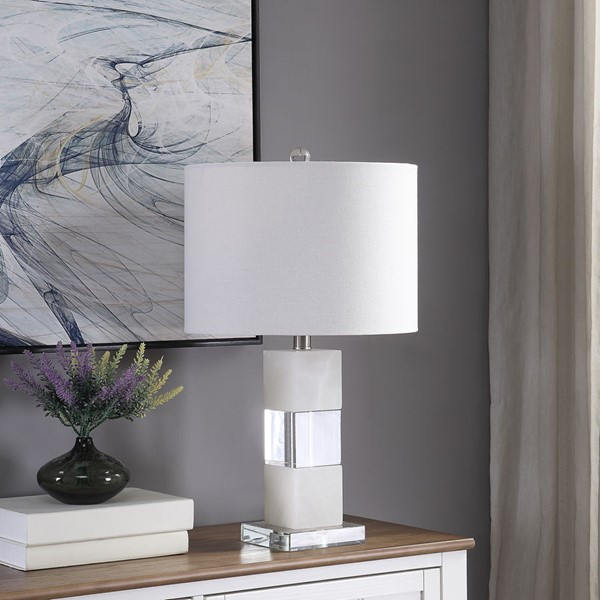 Crestview Collection Marble Crystal Table Lamp CRST-ABS1492SNG
