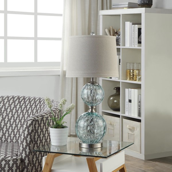 Crestview Collection Clear Glass Table Lamp CRST-ABS1547SNG