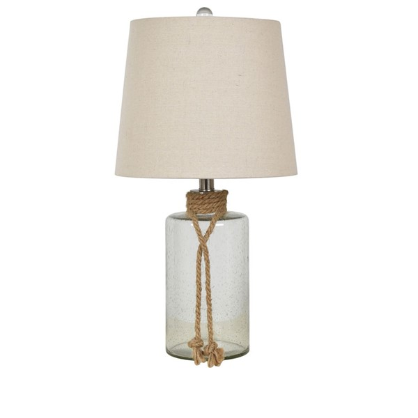 Crestview Collection Glass Rope Table Lamp CRST-ABS1661SNG