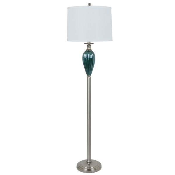 Crestview Collection Blue Glass Floor Lamp CRST-ABS957BNBUSNG