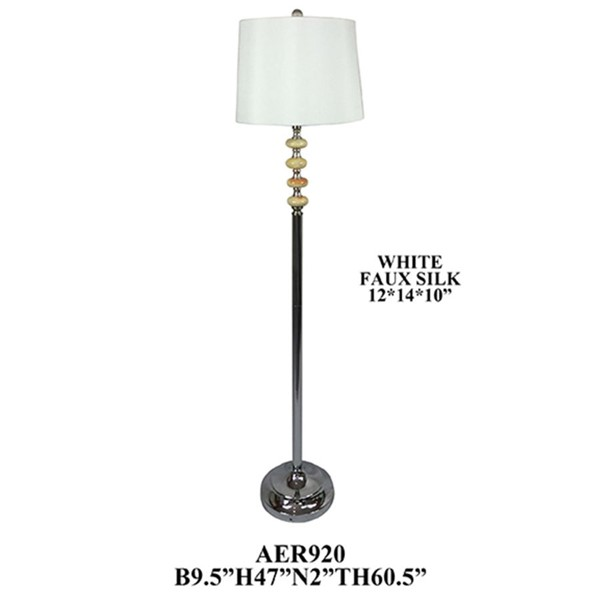 2 Crestview Collection Metal Floor Lamps CRST-AER920CH