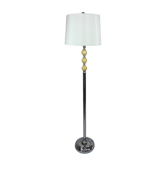 2 Crestview Collection Marble Ball Floor Lamps CRST-AER921CH