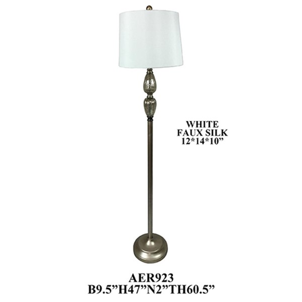 2 Crestview Collection Metal Round Shade Floor Lamps CRST-AER923SLF