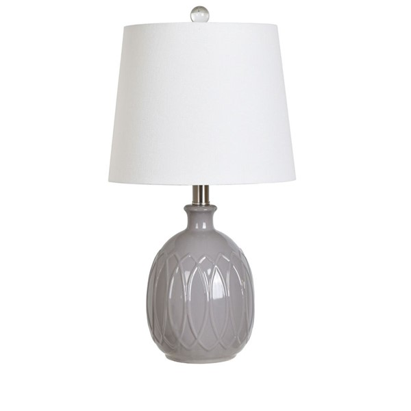 Crestview Collection Grey Ceramic Table Lamp CRST-AP2088GRYSNG