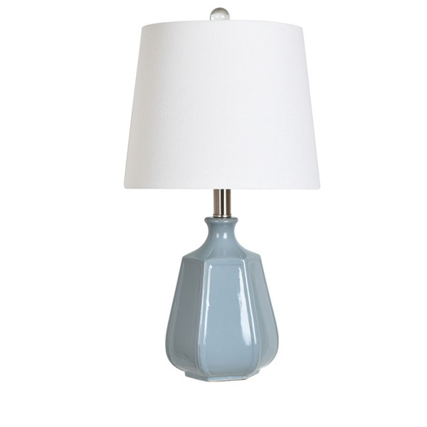 Crestview Collection Blue Ceramic Table Lamp CRST-AP2091BUSNG