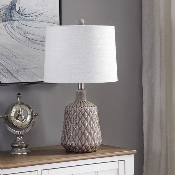 Crestview Collection Ceramic 3 Way Switch Table Lamp CRST-AP2189SNG
