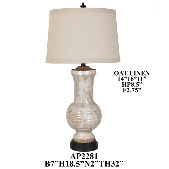 Crestview Collection Ceramic Poly Table Lamp CRST-AP2281
