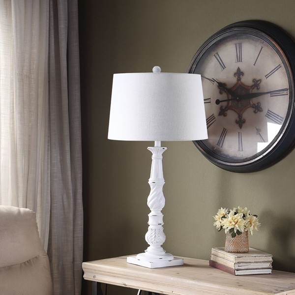 Crestview Collection White Poly Table Lamp CRST-AVP1043WHSNG