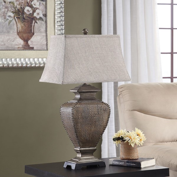 Crestview Collection Shaded Poly Table Lamp CRST-AVP1058UCNSNG