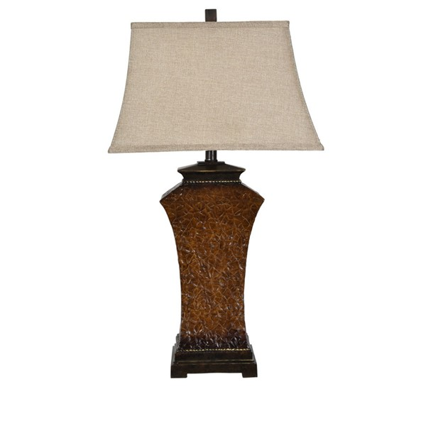 Crestview Collection Rectangle Shaded Table Lamp CRST-AVP1059UCOSNG