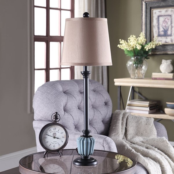 Crestview Collection Poly Buffet Table Lamp CRST-AVP865SNG