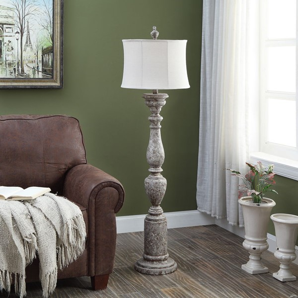 Crestview Collection Shaded Poly Floor Lamp CRST-AVP876SNG