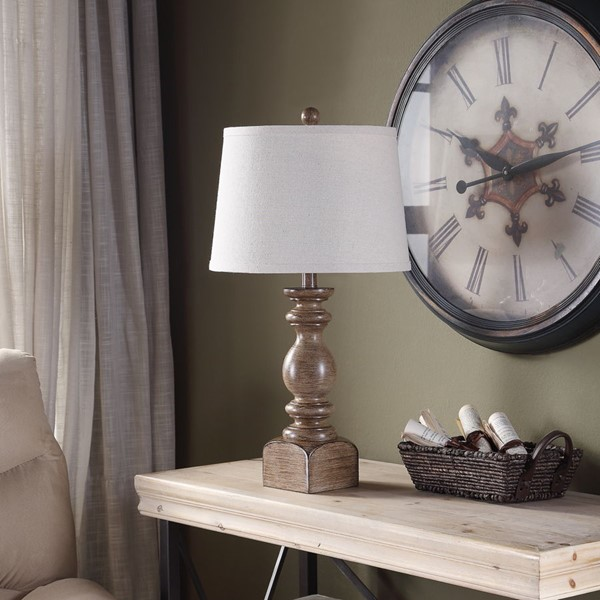 Crestview Collection Poly 2 Way Switch Table Lamp CRST-AVP882BESNG