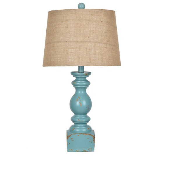 Crestview Collection Blue Poly Table Lamp CRST-AVP882BUSNG