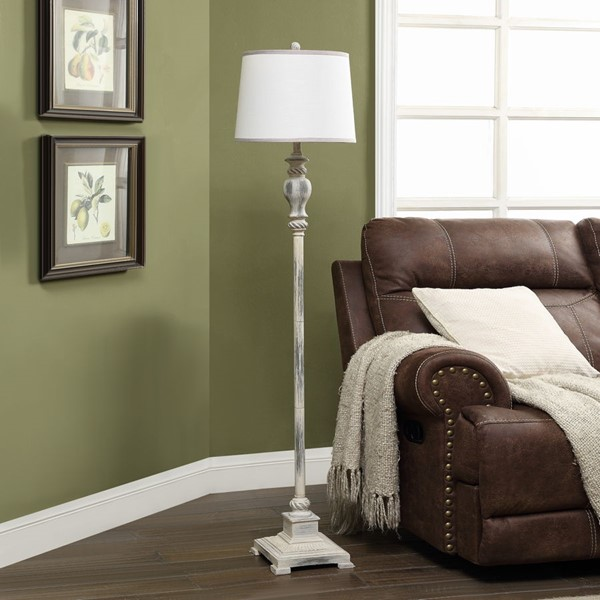 Crestview Collection Bell Poly Floor Lamp CRST-AVP968UBZSNG
