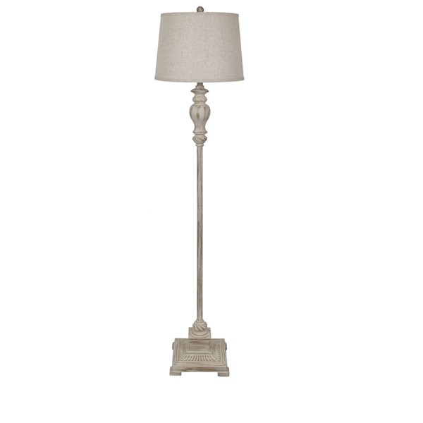 Crestview Collection Bell Shade Poly Floor Lamp CRST-AVP968UCASNG