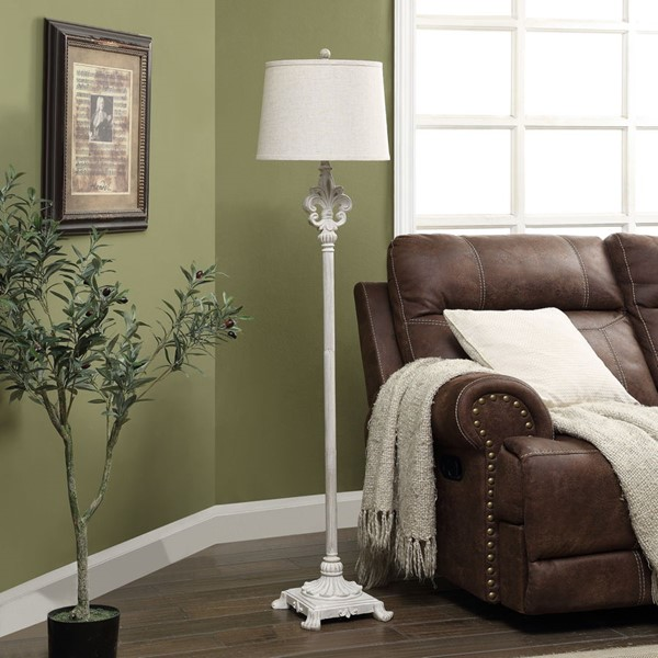 Crestview Collection Shaded Ploy Floor Lamp CRST-AVP972UCHSNG