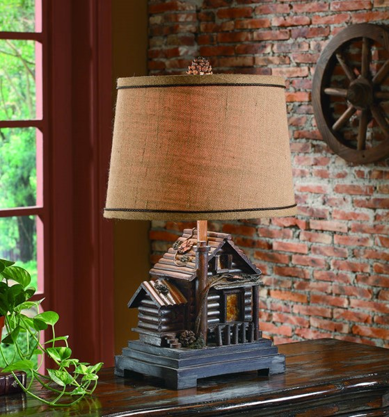 Crestview Collection Cabin Natural Table Lamp CRST-CIAUP506