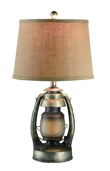 Crestview Collection Antique Natural Oil Lantern Table Lamp CRST-CIAUP530